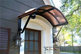 Exterior Door Awnings Entry Door Wood Awnings The Copper Eyebrow Awning Metal Exterior