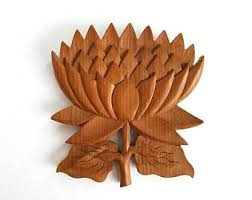 carved wood flowers etsy