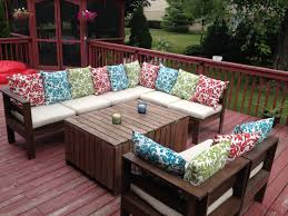 Diy Outdoor Sectional Sofa Plans Modern Outdoor Sectional U0026 Table Do It Yourself Home Projects