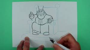 how to draw a king on his throne drawing for kids youtube
