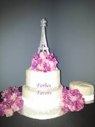 wedding cake toppers theme 10 inch sparkling silver paper eiffel tower theme wedding