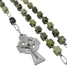 connemara marble rosary connemara marble celtic cross square nickle rosary