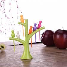 cuisiner le fruit de l arbre à simple mignon arbre et oiseaux fruits fourche porable outil de