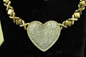 large gold link necklace images O 39 gallerie december 4 2006 jewelry auction post auction prices jpg