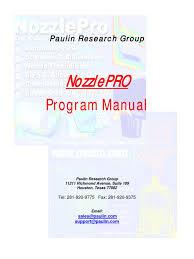 nozzlepro manual and faq structural load stress mechanics