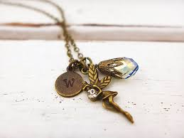 personalized charm necklaces personalized bronze vintage fairy necklace discovered