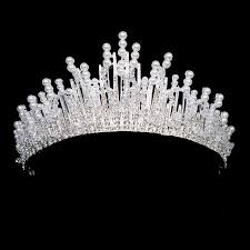 bridal crowns luxury clearl bridal crown pearl headband handmade wedding