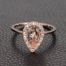 morganite pear engagement ring limited time sale 1 25 carat pink morganite pear cut