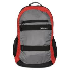 buy fastrack grey colour backpack for men a0641ngy01
