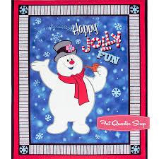 frosty snowman fabric fat quarter shop