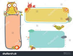 themed frames set three wildlife themed frames stock vector 58086856
