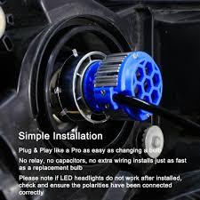 Led Head Light Bulbs by 2pcs Led Headlight Light Bulbs Low Beam 6000k White White Light