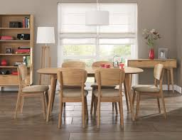6 Seater Oak Dining Table And Chairs Impressive Tivoli 150cm Retro Oak Extending Dining Table And