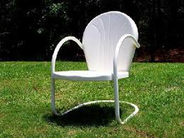 antique retro metal lawn chairs