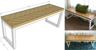 remodelaholic diy wood chevron bench with box frame