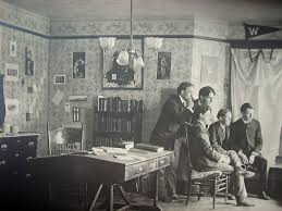 compelling photograph of inside of 1890 u0027s brown university dorm