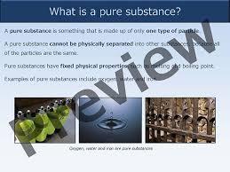 pure substances and mixtures u2013 presentation good science worksheets