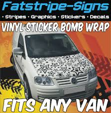 Vw Caddy Vinyl Sticker Bomb Bonnet Wrap Graphics Race Van Mx