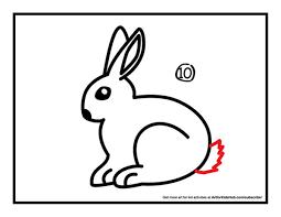 coloring amusing rabbit drawing easy coloring rabbit