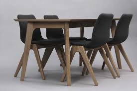 contemporary dining table oak solid wood rectangular dalby