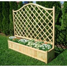 garden planters with trellis home outdoor decoration