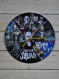 squad handpainted art vinyl record wall clock vinyl clocks