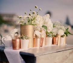Gold Vases For Weddings Best 25 Tin Can Centerpieces Ideas On Pinterest Christmas Party