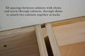 filling gaps between cabinets installing kitchen cabinets momplex vanilla kitchen ana white