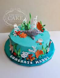 a manatee u0026 sea life graduation cake for a future marine biologist