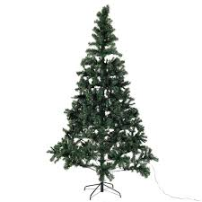 8 ft pre lit artificial tree w stand 450 led lights