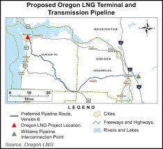 map of oregon freeways oregon lng gets ferc deis discounts court dispute site