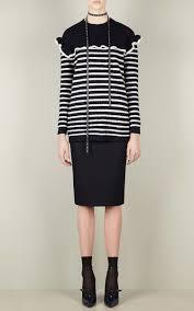 striped ruffle sweater by red valentino moda operandi