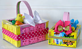 candy basket ideas edible easter baskets easy easter craft hip2save