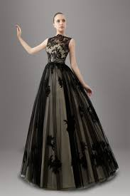 non white wedding dresses black two tones a line non white wedding dresses illusion