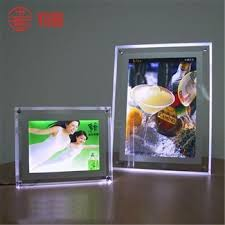 led picture frame light a4 acrylic led light display stand buy wall mount acrylic sandwich