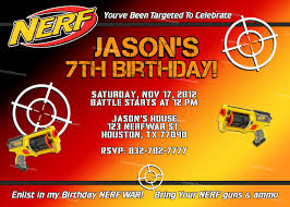 My Birthday Invitation Card Nerf Gun Birthday Party Invitations Vertabox Com
