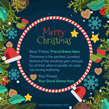 make personal merry wishes cards free