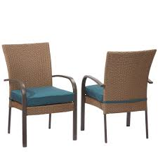 Furniture Patio Dining Furniture With - hampton bay corranade stackable wicker outdoor dining chair with