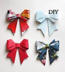 Gift Wrapping Bow Ideas - origami paper bows gorgeous gift wrap idea paper bows brown