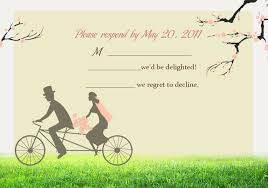 wedding invitations online free cheap bicyle groom cherry blossom invitations for garden