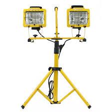 voltec dual 500w halogen tripod work light