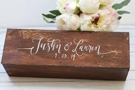 wine box wedding ceremony personalized wedding wine box wedding gift keepsake wine box
