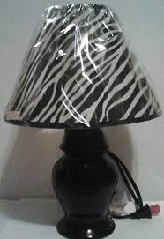Zebra Print Table Lamp Zebra Animal Print Table Lamp Black U0026 White Fabric Shade Ceramic