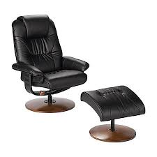 southern enterprises naples leather reclining chair and ottoman