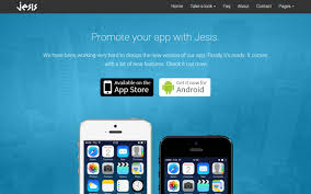 jesis responsive app landing page bootstrap landing pages