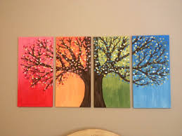 diy canvas painting of tree creative ideas canvas