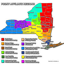 Map Of The State Of New York by Pssny Affiliates Pharmacists Society Of The State Of New York