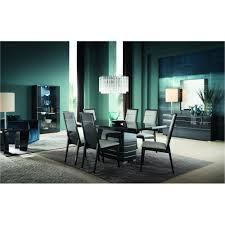 Modern Dining Sets Gray 7 Piece Modern Dining Set Versilia Collection Rc Willey