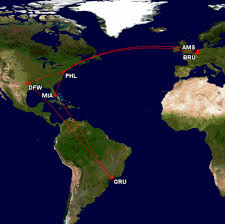 Alitalia Route Map by Oops I Did It Again Lionell Travels