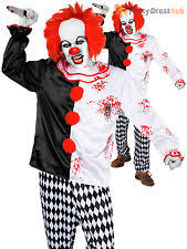 Scary Clown Halloween Costumes Adults Scary Clown Costume Ebay